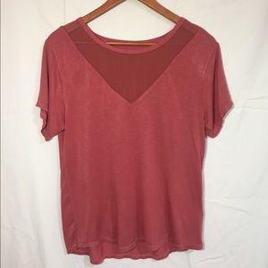 Adam Levine red coral XL tee shirt